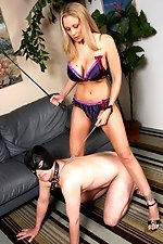 The legendary Julia Ann finds her inner freak as she fucks black guys in front of cuckold slave